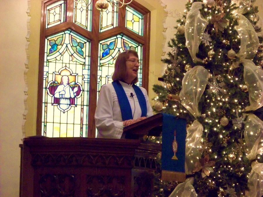 Pastor Karen Tamorria, Advent 2012.