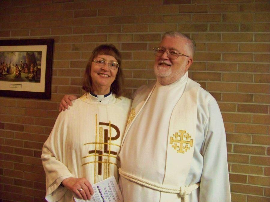 Pastors Karen & Michael Tamorria. installation service 6 Jan 2013.