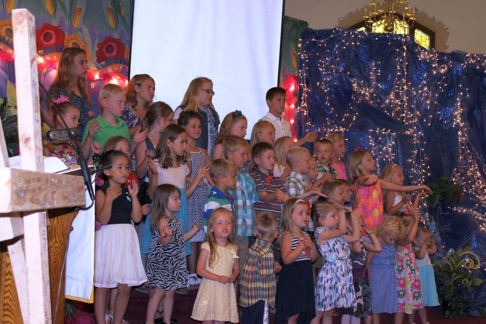 Bible School program, June 2014.