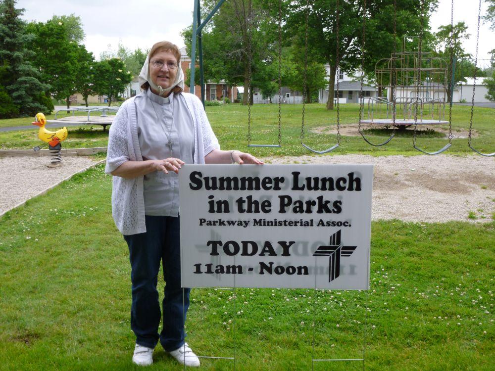 Summer Lunch in the Park Program, Willshire,  June 2014.