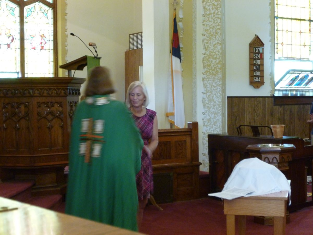 Brenda Weldy received into membership, 14 June 2015