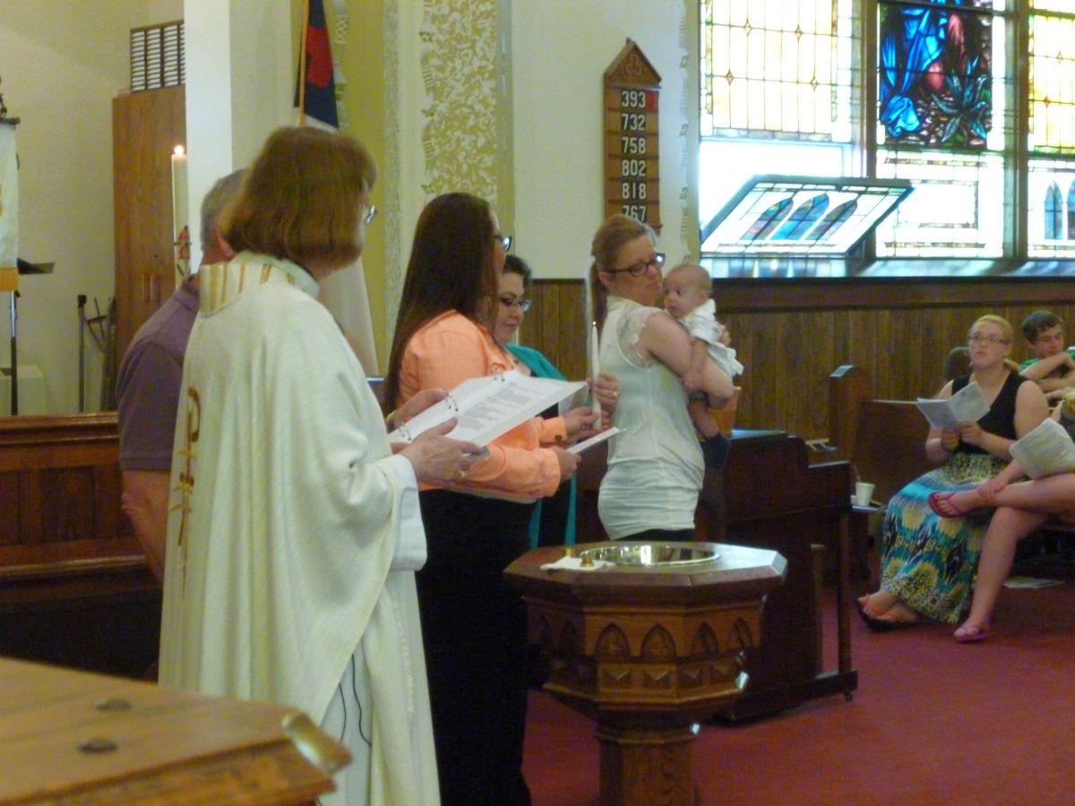 Elijah Gilbert baptism, 17 May 2015