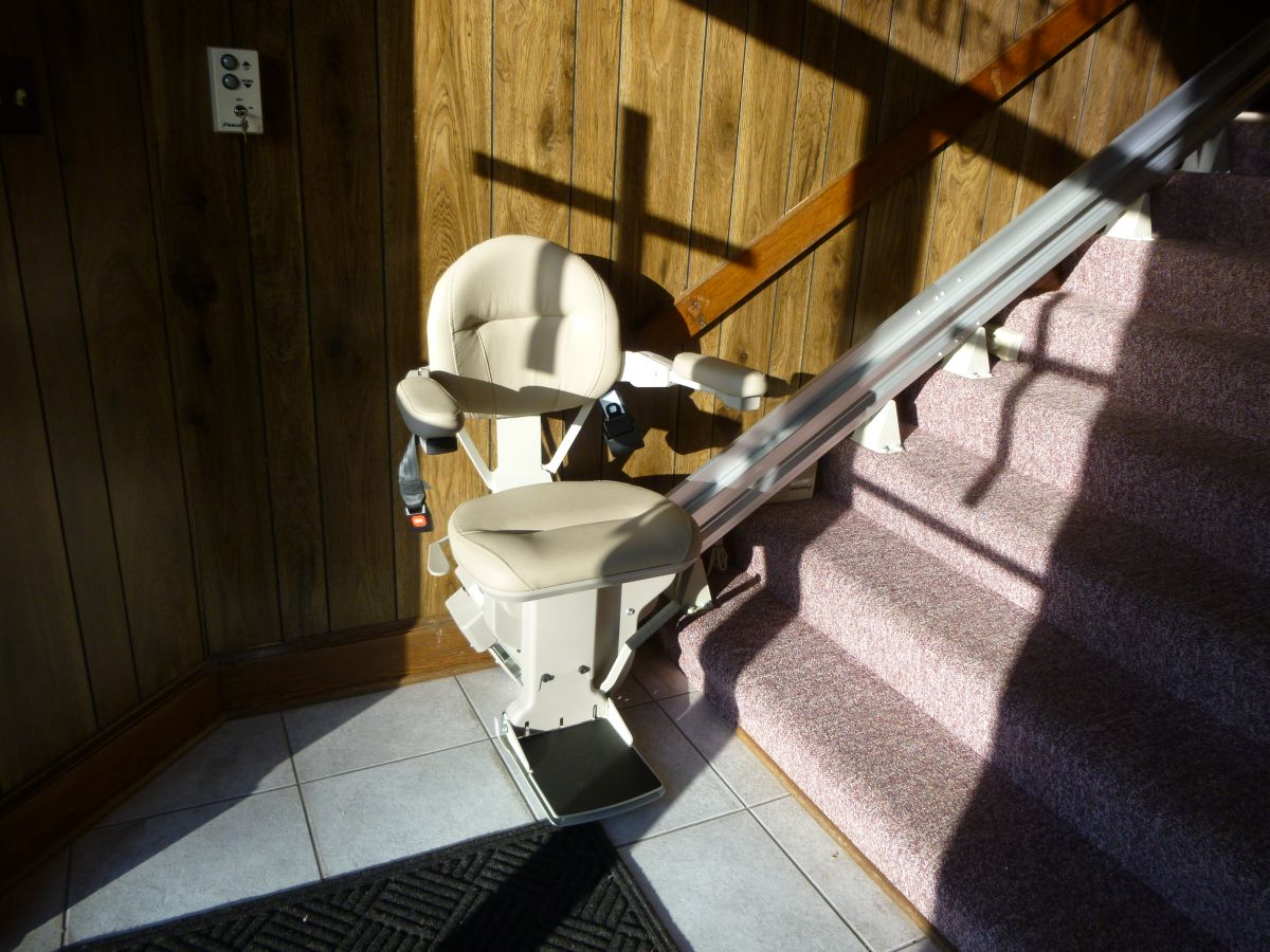 New stair lift going to sanctuary. (Feb 2015)