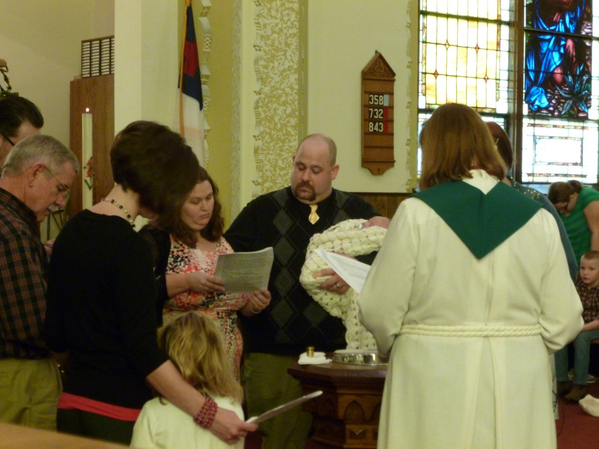 Alexander White baptism (8 Feb 2015, photo by Karen)