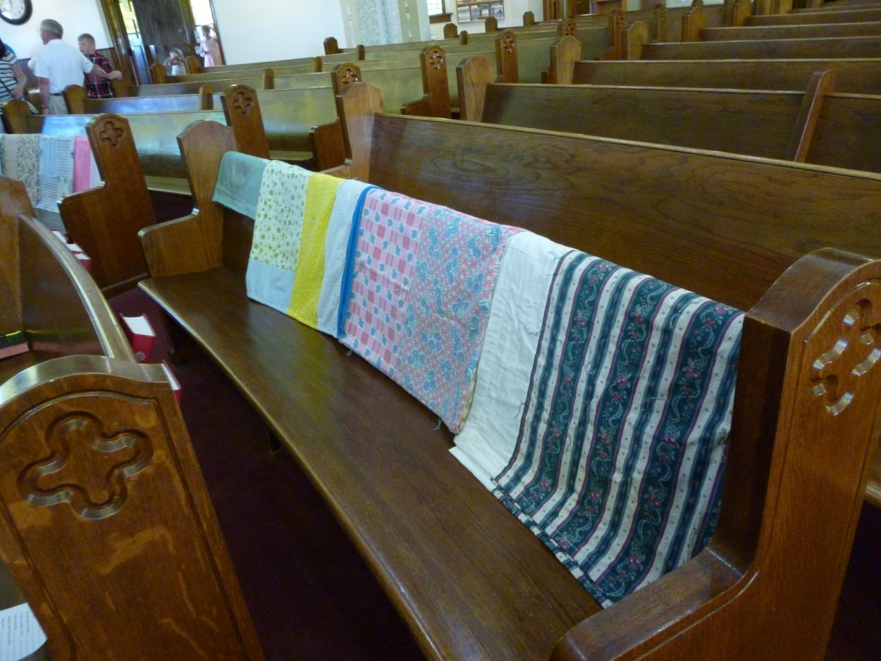 Comforts made by Women of Church for Lutheran World Relief