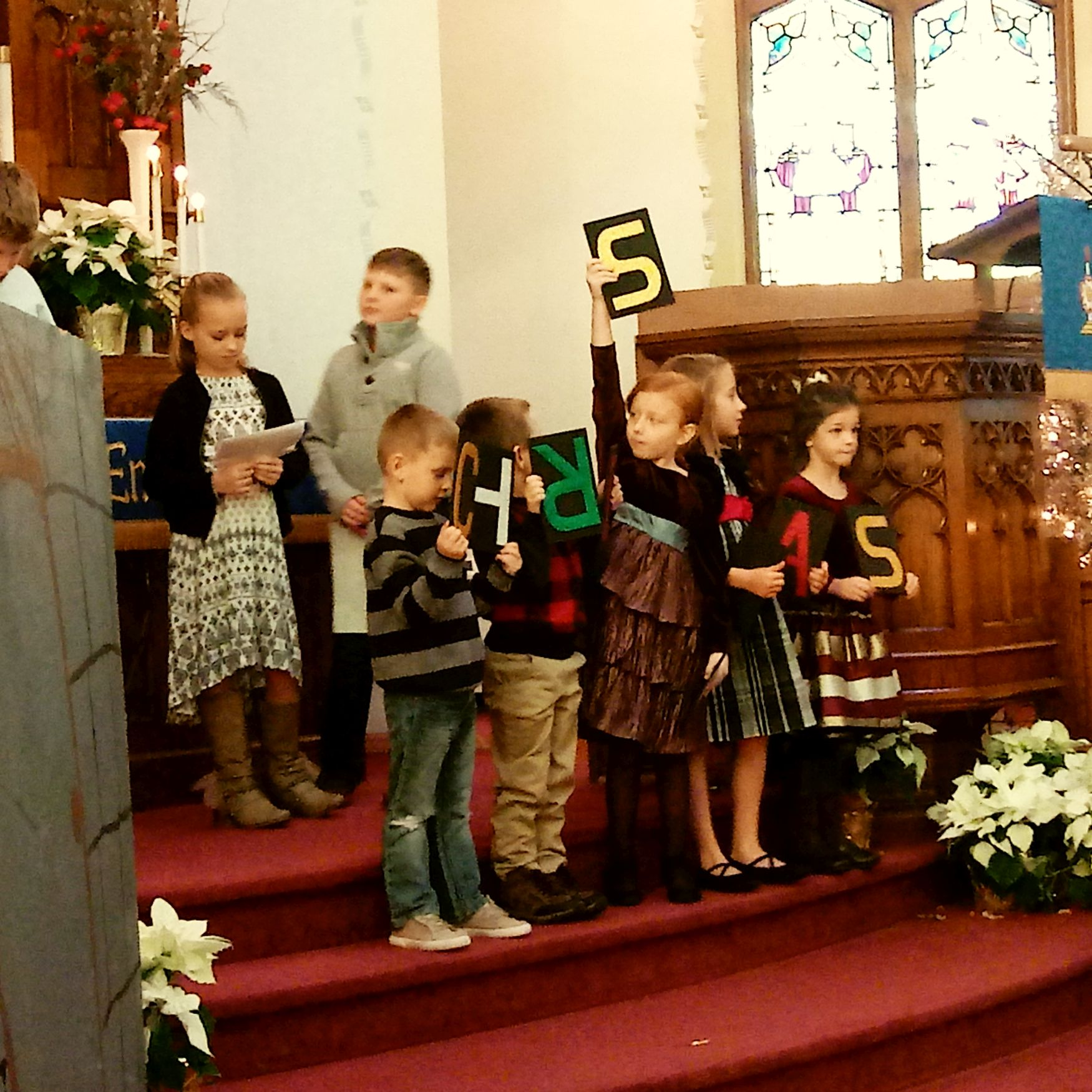 Sunday School Christmas program, Dec 2019.